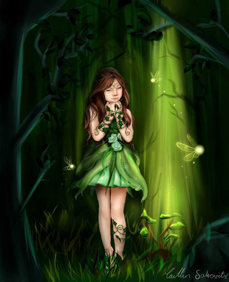 Dryad Girl by CaityKitty13