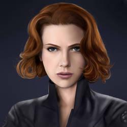 Scarlett Johansson- Black Widow by CaityKitty13