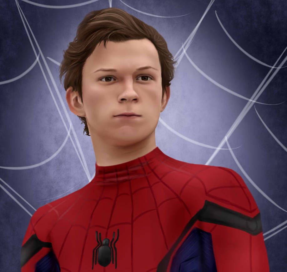 Spiderman -Tom Holland by CaityKitty13