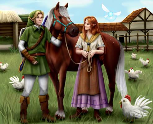 Malon And Link- Zelda OOT