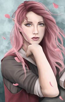 I just wanted to draw someone with pink hair.