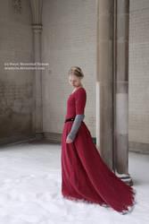Raspberry Wool Cotehardie by Arasiyris