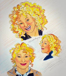 Sketch page for the Alex Kingston birthday project
