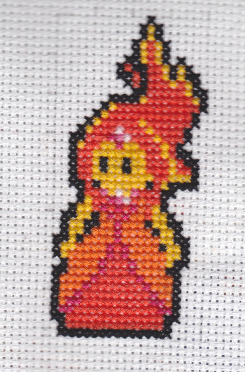 Flame Princess Cross Stitch by CeruleanTempest