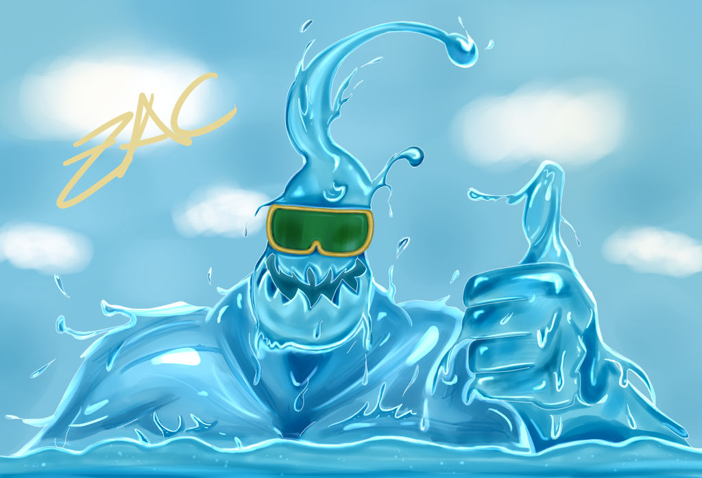 Pool Party Zac League Of Legends By Pastel Macabro On Deviantart