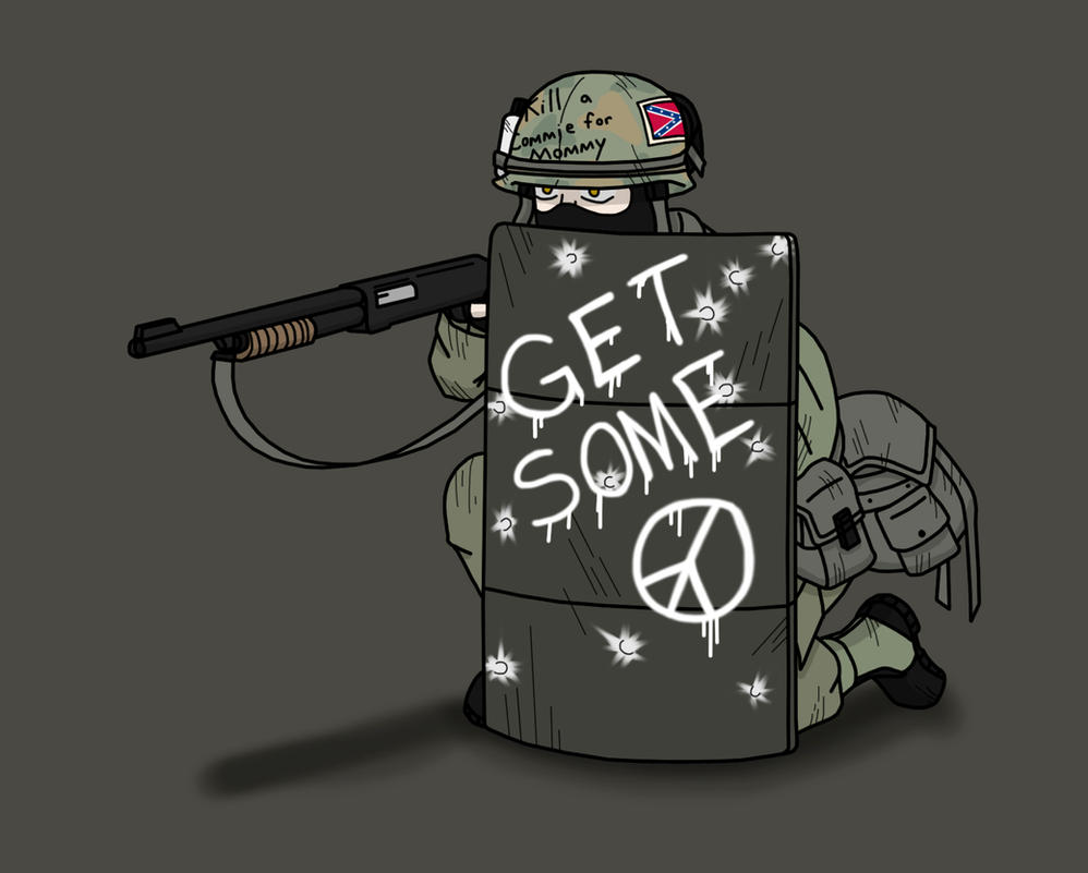 Dementophobia: DD - 'Nam Riot Gunner by BloodySoldier007