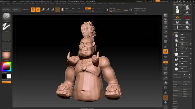 The human Pumba (Work in progress)