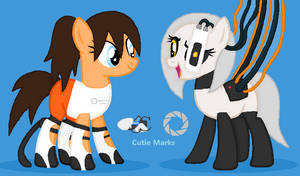 Glados and Chell Redo by HysteriaAlice09