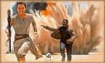 Rey and Finn: Let's run away!