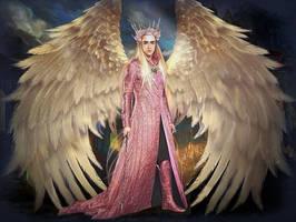 King Thranduil: Warrior angel by Ysydora