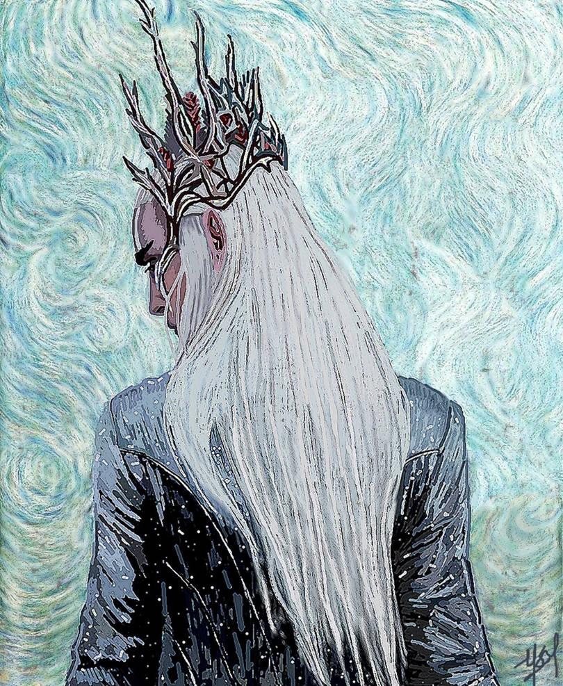 Elvenking Thranduil: In the Van Gogh manner