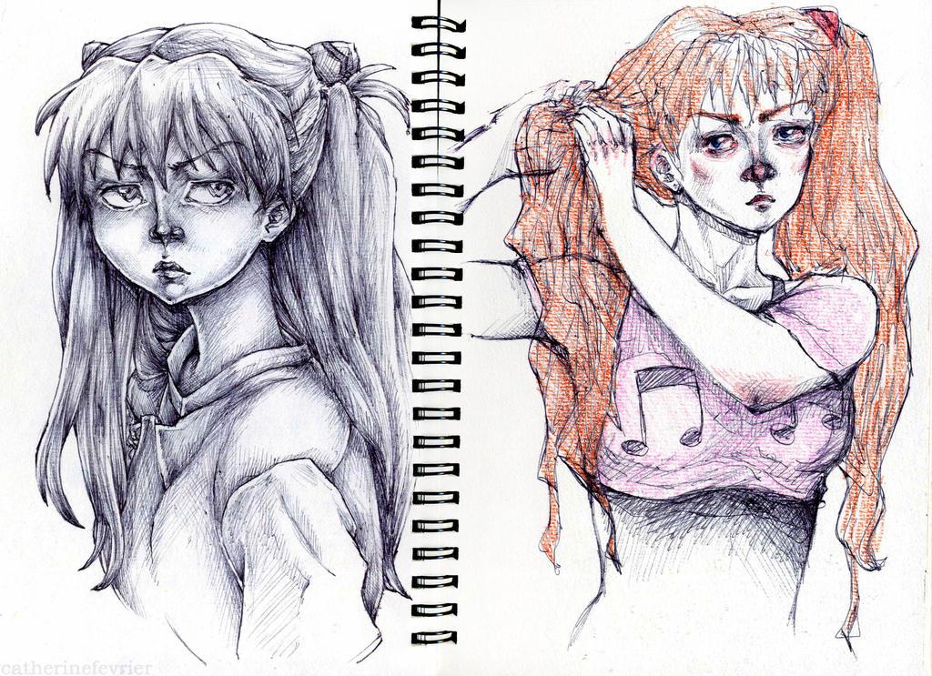 Asuka Langley by CatherineFevrier