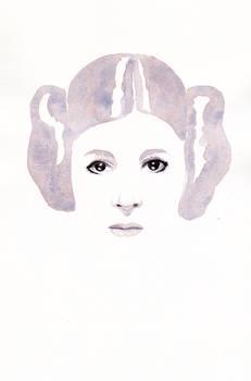 Princess Leia - RIP art