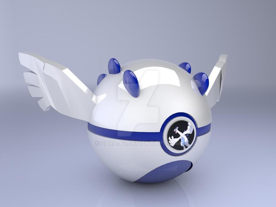 Lugia pokeball by Sara-A2