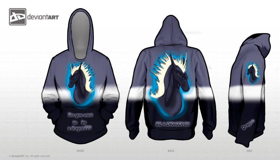 Sweatshirt -Be a dragon- by Sara-A2