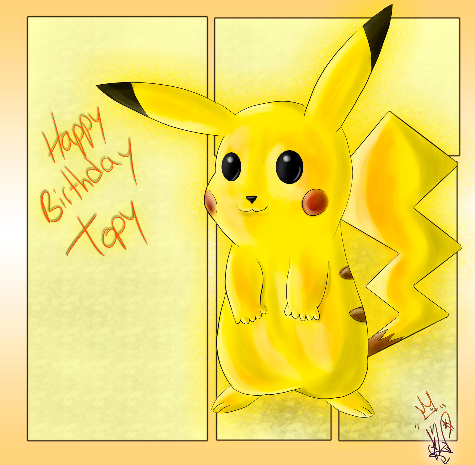 Happy birthday Topy!! by Sara-A2