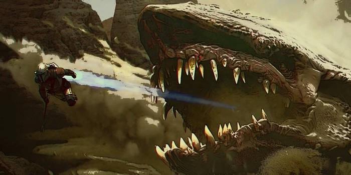 Mandalorian Cobb vs Krayt-Dragon edit