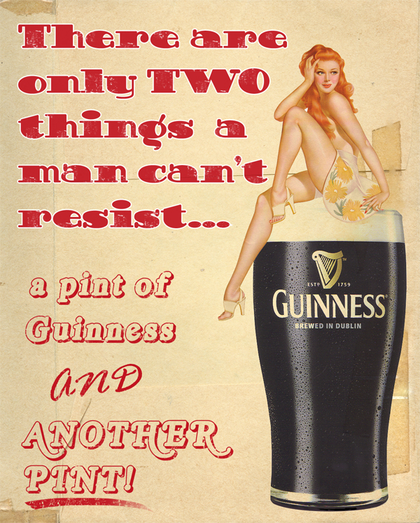Guinness Pin Up