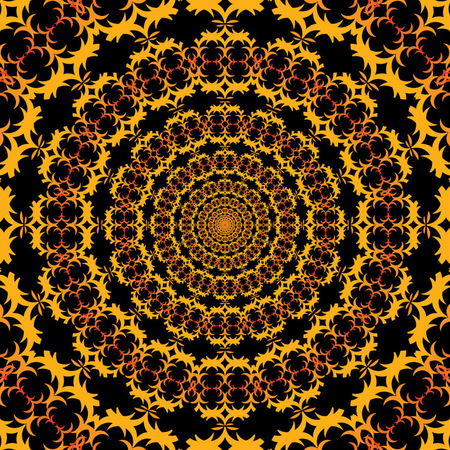 Orange Psychedlic Pattern