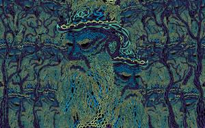 Tolstoy psychedelic wallpaper