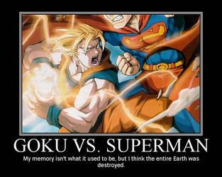 goku vs. superman by yq6
