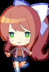 Chibi Monika with Sayoris body