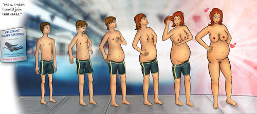 TG AP Sequence: Pregnant Water Aerobics by OcularRiftendo