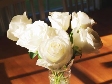 des bouquets de roses