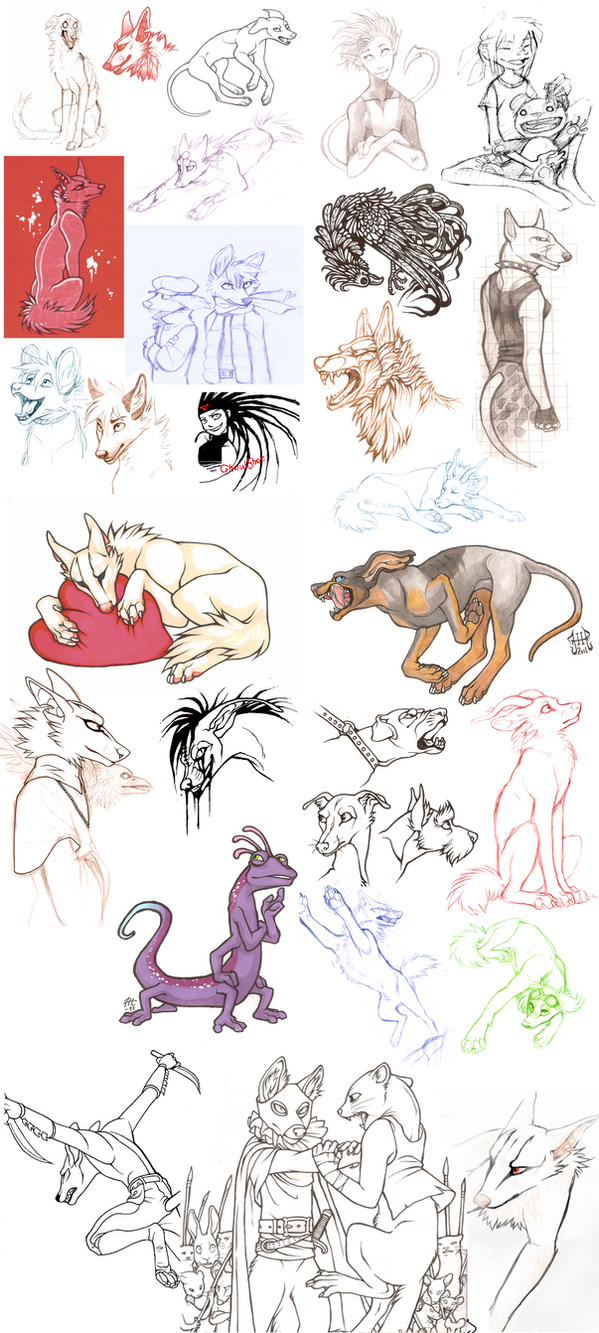 Sketch Dump 1 by CanisAlbus