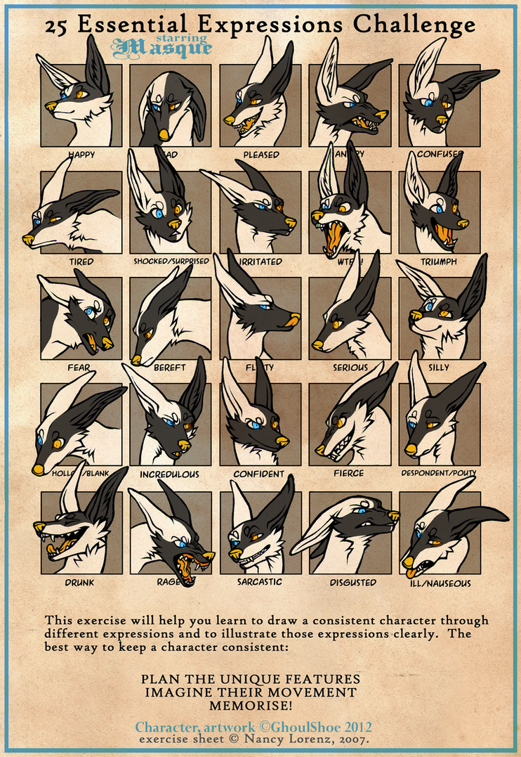 25 Expressions Challenge - Masque by CanisAlbus