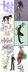 Sketch Dump 14 by CanisAlbus