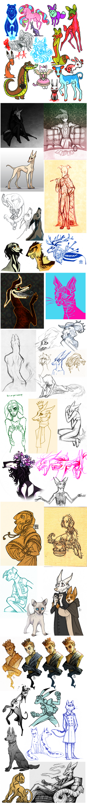 Sketch Dump 15 by CanisAlbus