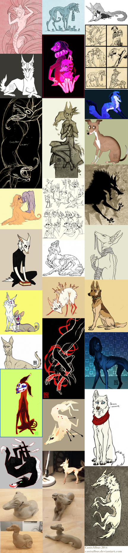 Sketch Dump 16 by CanisAlbus