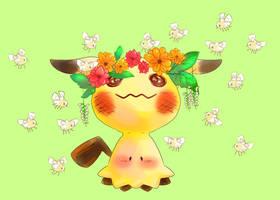 Flowery Mimikyu by AmandaMandaPanda