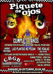 Piquete de Ojos at CBGB Bs As by NARIZdePAYASO