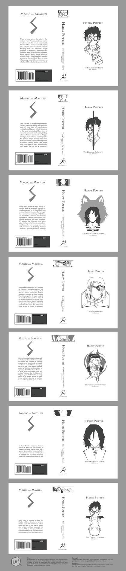 Harry Potter - Book Covers by Bluemutantfreak