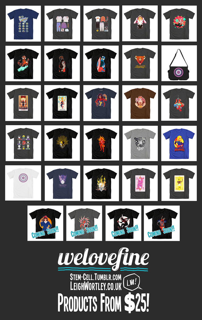 WeLoveFine Products: UPDATE 2015 by Bluemutantfreak