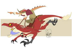Raptor Ridin' by SylxeriaGuardian