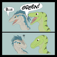 Blue and Not-Green by SylxeriaGuardian