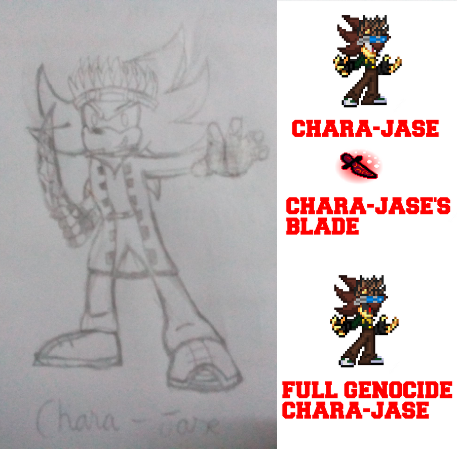 Chara-Jase drawing by JaseTheHedgehog16