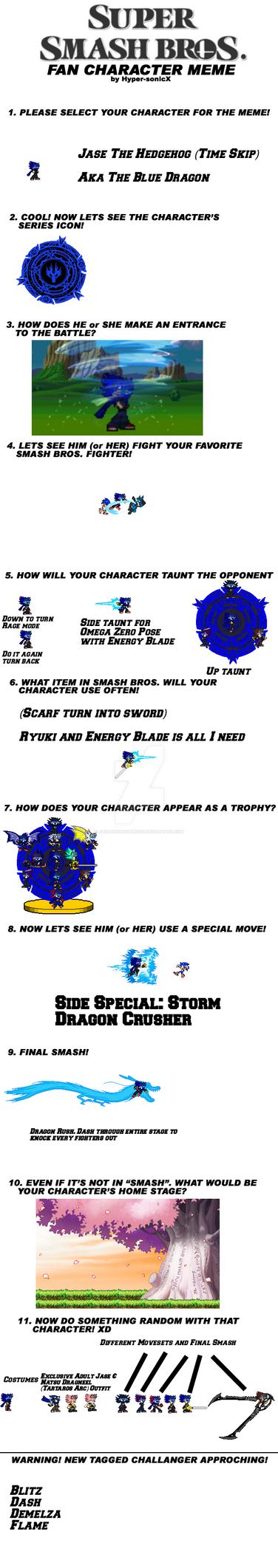 Smash Bros Jase (Time Skip) meme by JaseTheHedgehog16