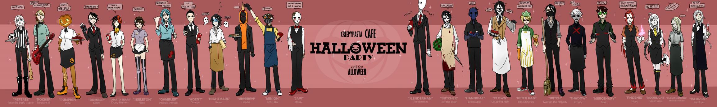 Creepypasta Cafe : Halloween Party #1 by Alloween