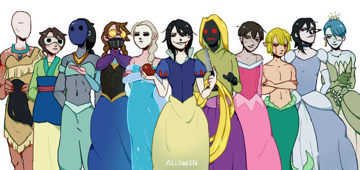 Pasta Princesses by Alloween