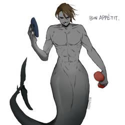 Eyeless Jack the Mermaid: MerMay 7 by Alloween