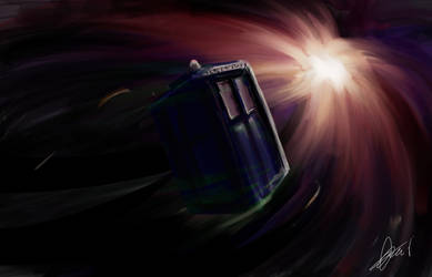 TARDIS by Petitecreme