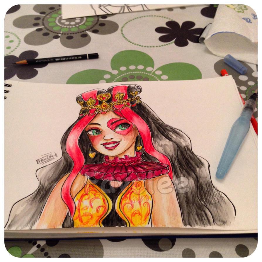 Lizzie watercolor practice by Favolee