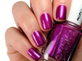purple magenta nail polish by jkfangirl