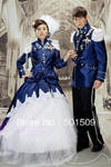 royal blue navy medieval costume