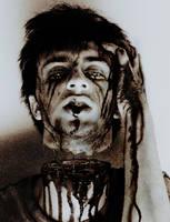 Self decapitating Zombie by vvmasterdrfan