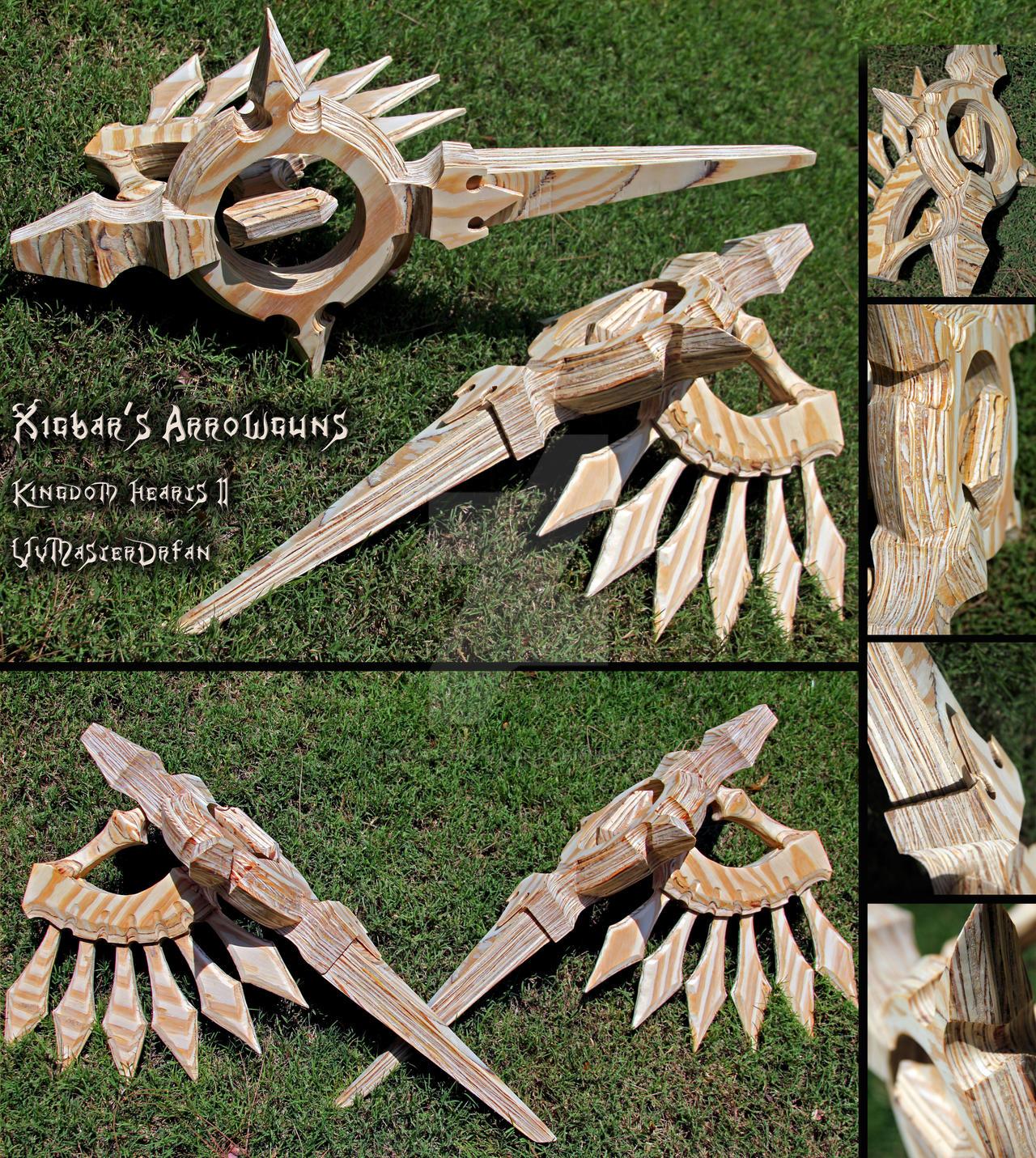 Xigbar's Arrowguns Wood by vvmasterdrfan